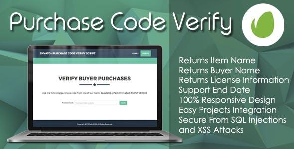 Envato - Purchase Code Verify PHP Script