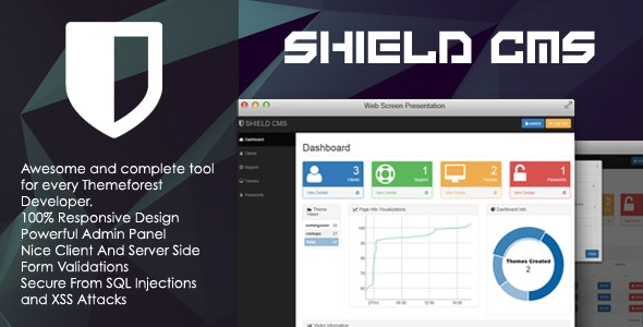SHIELD - Freelancer Content Management System - CodeCanyon Item for Sale