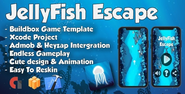 JellyFish Escape - Xcode Project & Buildbox Game Template - CodeCanyon Item for Sale