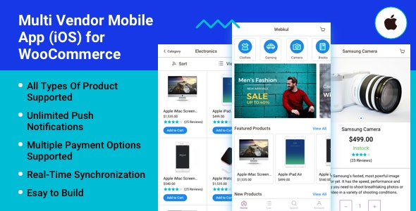 Multi Vendor Mobile App (iOS) for WooCommerce - CodeCanyon Item for Sale