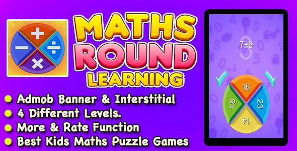 Maths Round Learning + Fun With Learn + IOS Game For Kids