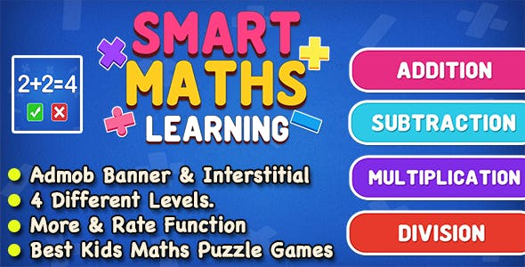 Smart Maths Learning Game For Kids and Adult + IOS