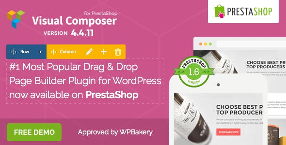Visual Composer: Page Builder for Prestashop        Nulled