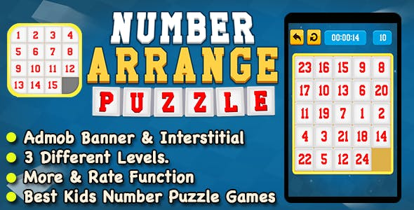 Number Arrange Puzzle Game For Kids And Adults + IOS