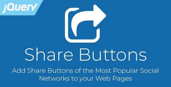 Share Buttons - Social Media jQuery Plugin