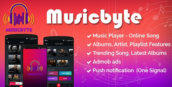 MusicByte (Android) - online Mp3 music player application by