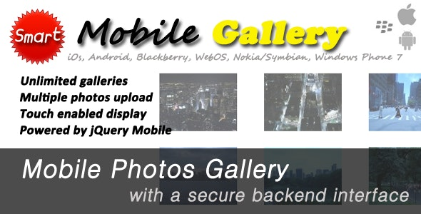 Mobile jQuery Photos Gallery - CodeCanyon Item for Sale