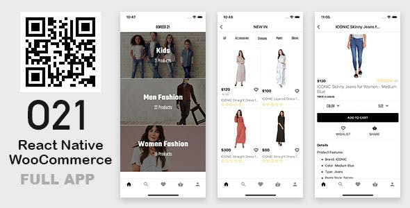 React Native Fashion eCommerce App (WooCommerce + WordPress)