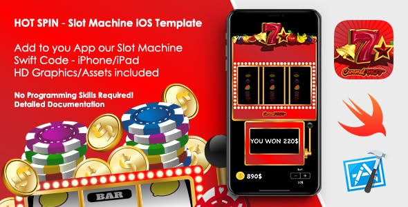 Hot Spin - Casino / Slot Machine iOS App Template
