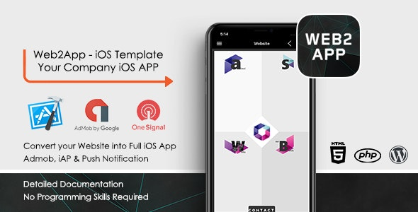 Web2App iOS App - Convert your Website to Mobile App - CodeCanyon Item for Sale