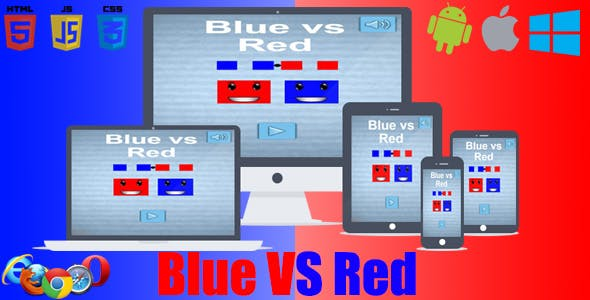 Blue Vs Red Addictive Game - HTML5 & CAPX & C3P