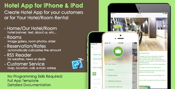 Hotel App iOS Template - Your Room Rental App