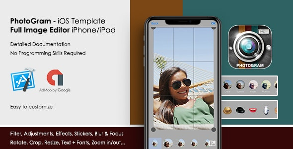 PhotoGram - Universal Image/Photo Editor iOS Template - CodeCanyon Item for Sale
