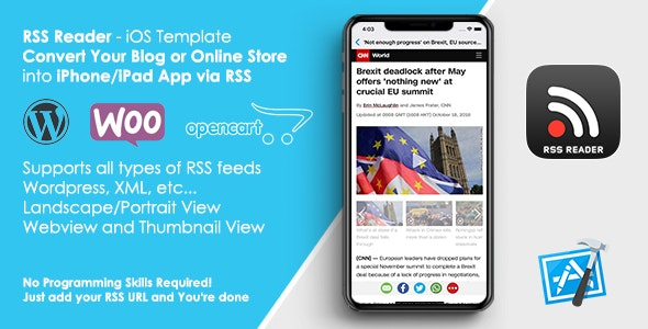 RSS Reader Template - Convert Your Website/Blog to iOS App - CodeCanyon Item for Sale