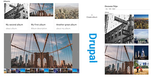 Drupal Albums Photo Manager