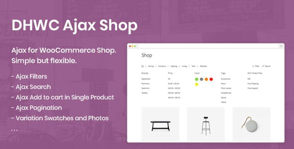 DHWC Ajax - Enable Ajax for WooCommerce Shop