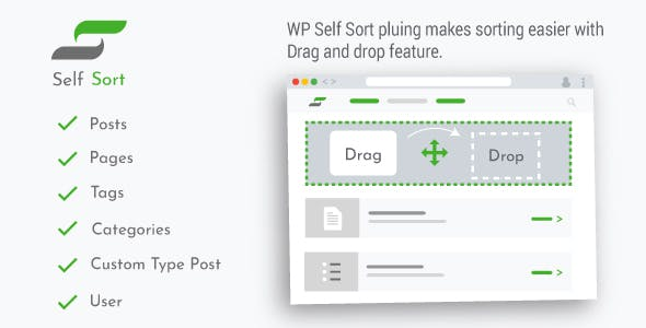 WordPress Post Reorder - Reorder post type, pages, Categories, Custom Post Type, Users, Plugins