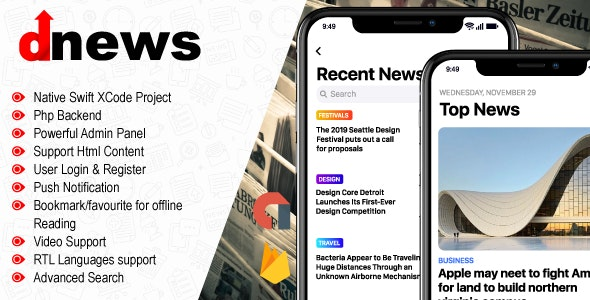iOS News App - Multipurpose Blog/News/Fashion/Magazine - CodeCanyon Item for Sale
