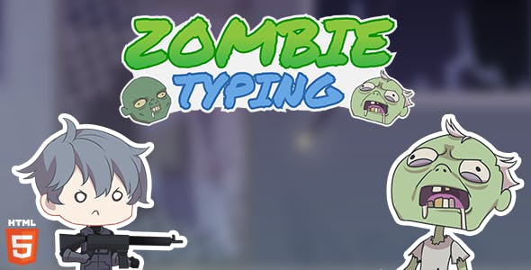 Zombie Typing - HTML5 Typing game