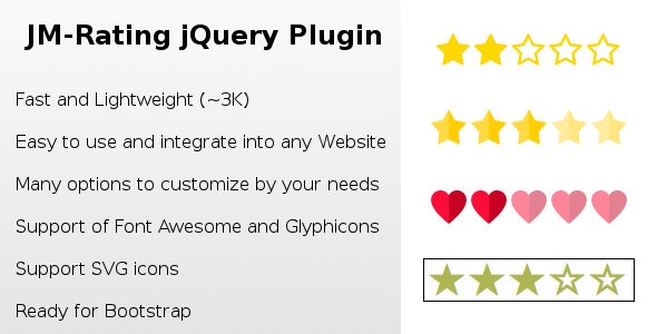 Rating jQuery Plugin - CodeCanyon Item for Sale