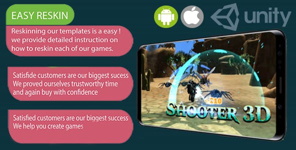 (iOS and Android) Big Bad Bugs Shooter 3D