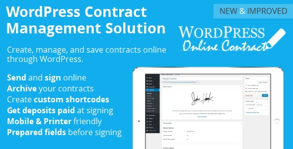 WP Online Contract        Nulled