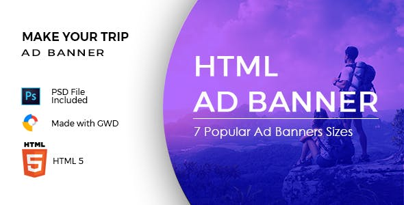Make Your Trip - HTML Ad Banner Template