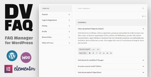 DV FAQ v1.3 – Advanced WordPress FAQ Plugin