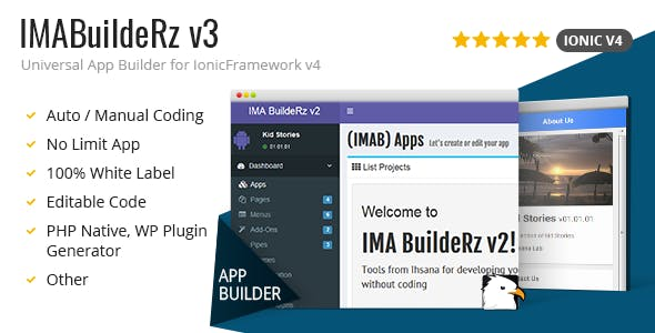 IMABuildeRz - Universal AppBuilder for Ionic v4 - CodeCanyon Item for Sale