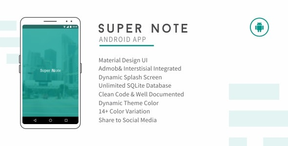 Super Note 2.3 - CodeCanyon Item for Sale