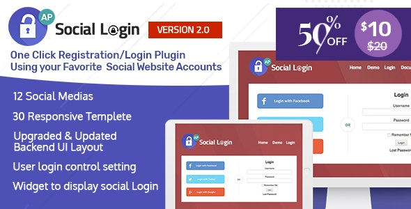 Social Login WordPress Plugin - AccessPress Social Login - CodeCanyon Item for Sale