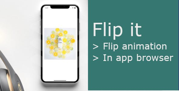 Flip it | React Native with flip animation