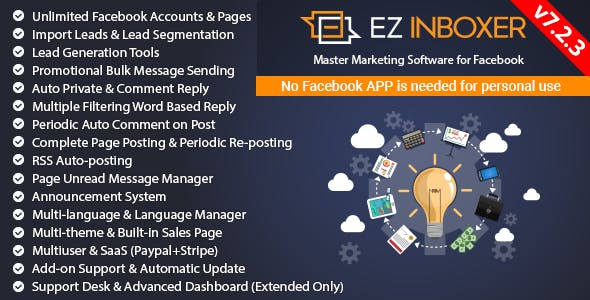 EZ Inboxer - Master Marketing Software for Facebook - CodeCanyon Item for Sale