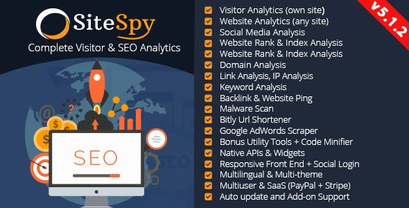SiteSpy - The Most Complete Visitor Analytics & SEO Tools - CodeCanyon Item for Sale