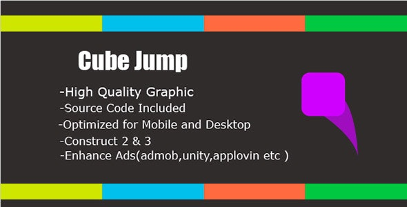 Cube Jump - HTML5 & Mobile Game (Construct 2&3) - CodeCanyon Item for Sale