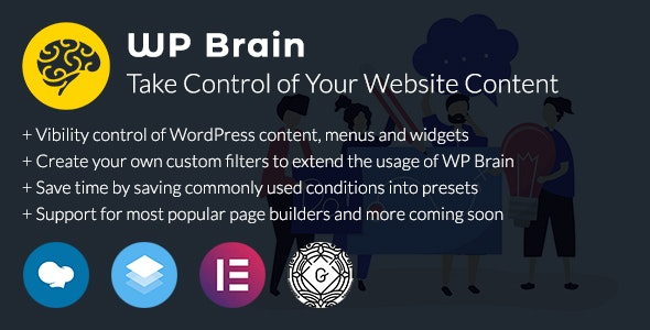 WP Brain - WordPress Logic Controller - CodeCanyon Item for Sale