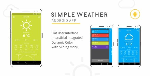 Make A Weather Android App With Android App Templates