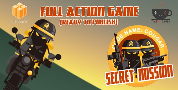 Secret Mission - Full Buildbox Game by TimeoutGames | CodeCanyon