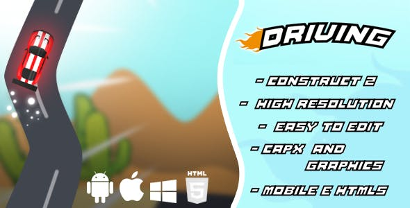 Driving - Car Game Template HTML5 and Mobile (capx)