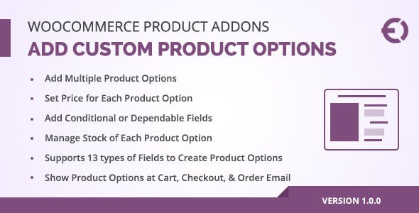 WooCommerce Product Add-Ons Plugin, Add Custom Product Options