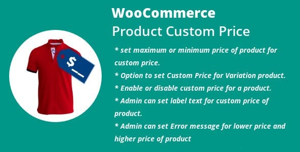 WordPress WooCommerce Product Custom Price