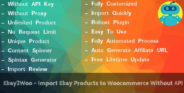Ebay2Woo - Import Ebay Products to Woocommerce Without API