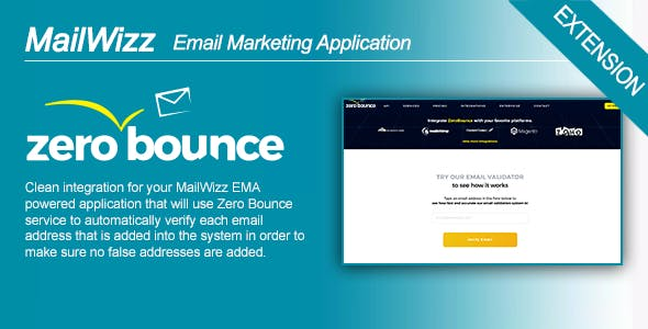 MailWizz Ema Integration with Zero Bounce