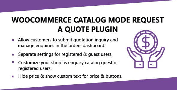 WooCommerce Catalog Mode Request A Quote Plugin