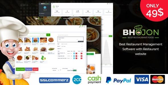 Bhojon - Best Restaurant Management Software with Restaurant Website - CodeCanyon Item for Sale