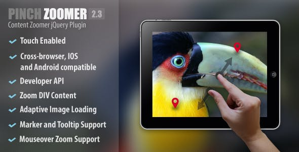 Pinch Zoomer jQuery Plugin        Nulled