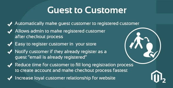 Guest to Customer Magento 2 Extension - CodeCanyon Item for Sale