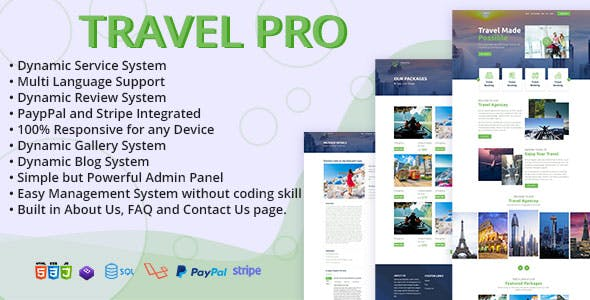 TravelPRO - Tour and Travel Agency Management System with Booking Engine