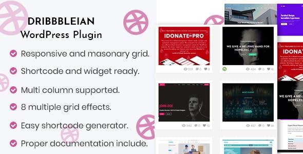 Dribbbleian - WordPress Plugin for Designers