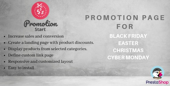 Promotionstart Promotions Page For Black Friday Easter Christmas By Perseadrian
